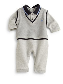 Armani Junior - Infant's Vest & Polo Coverall