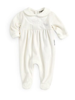 Armani Junior - Infant's Lace Fleece Footie