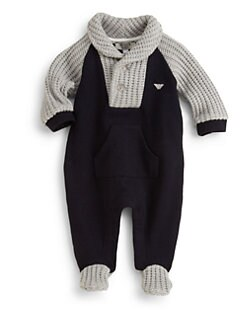 Armani Junior - Infant's Knit Footie