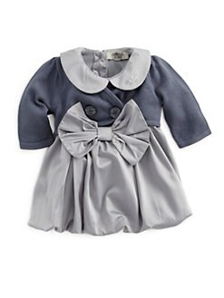 Armani Junior - Infant's Two-Piece Satin Dress & Cardigan Set