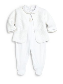 Kissy Kissy - Infant's Two-Piece Baby Pram Jacquard Footie & Jacket Set