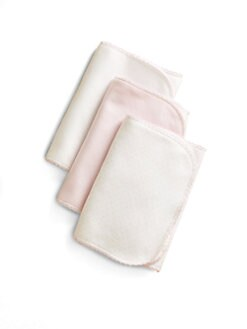 Kissy Kissy - Infant's Burp Cloth Three-Pack