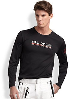 RLX Ralph Lauren - Pieced Jersey Crewneck