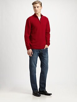 Faconnable - Half-Zip Wool Sweater
