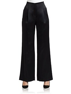 Magaschoni - High-Waist Satin Pants