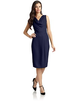 Magaschoni - Silk Draped Neck Dress