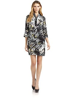Magaschoni - Silk Abstract Shirt Dress