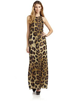 Magaschoni - Silk Boss Leopard Maxi Dress
