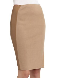 Magaschoni - Two-Tone Knit Pencil Skirt