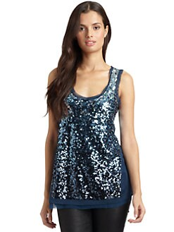 Magaschoni - Sequin Tank Top