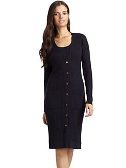 Magaschoni - Ribbed Long Cardigan/Navy