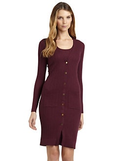 Magaschoni - Ribbed Long Cardigan/Port