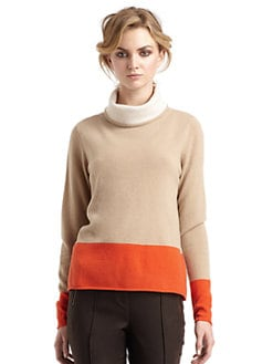 Magaschoni - Cashmere Colorblock Turtleneck Sweater