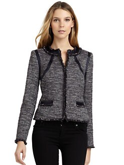 Magaschoni - Zigzag Stitch Tweed Jacket