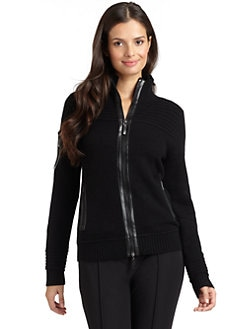 Magaschoni - Cashmere Zipper Cardigan/Black
