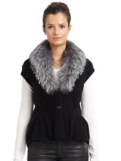 Magaschoni - Cable-Knit Fox Fur Jacket
