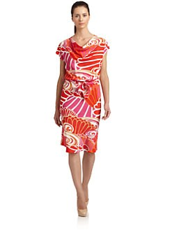 Natori - Maleah Abstract Floral Print Dress