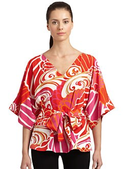 Natori - Maleah Abstract Floral Print Top