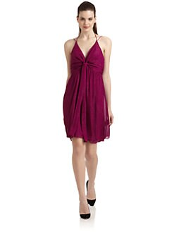 Nicole Miller - Tie Front Halter Dress