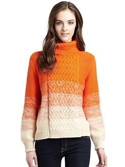 525 america - Ombré Cable-Knit Sweater