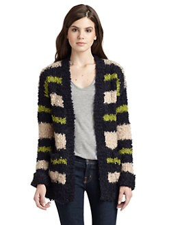 525 america - Boucle Striped Cardigan