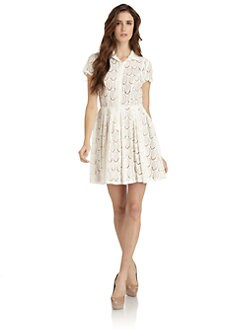 BCBGMAXAZRIA - Kiran Embroidered Shirt Dress