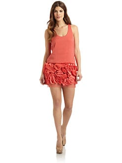 BCBGMAXAZRIA - Tulle-Skirted Tank Dress
