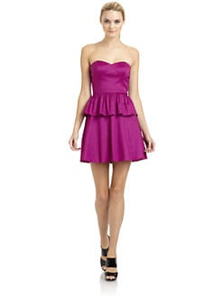 Aidan Mattox - Strapless Taffeta Dress