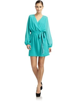 ERIN by Erin Fetherston - Split-Sleeve Mock Wrap Dress