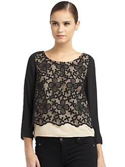 ERIN by Erin Fetherston - Embroidered Floral Blouse