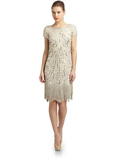 Aidan Mattox - Embellished Silk Flapper Dress