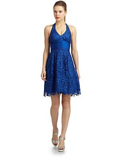 Aidan Mattox - Lace Halter Dress