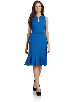 David Meister - Pleated Hem Dress