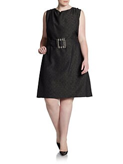 David Meister - Belted Sheath Dress