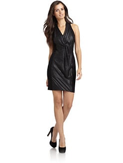 Andrew Marc - Draped Surplice Front Dress