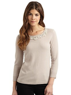 Cullen - Beaded Cashmere Top
