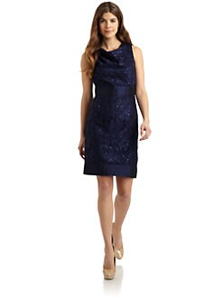 Chetta B - Sequined Lace Dress