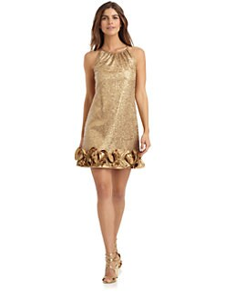 Love,Carmen - Sequin Ruffle Dress