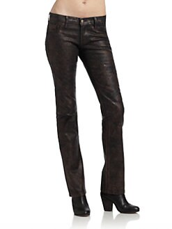 David Kahn - Nikki Metallic Straight Leg Denim Jeans