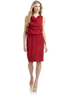 Lafayette 148 New York - Draped Neck Cocktail Dress