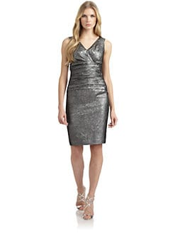 Lafayette 148 New York - Minka Ruched Metallic Dress