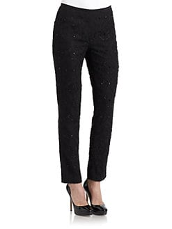 Lafayette 148 New York - Silk Embellished Pants
