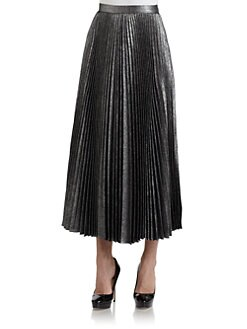 Lafayette 148 New York - Metallic Accordion Pleated Skirt