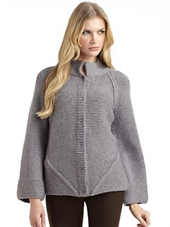 Lafayette 148 New York - Chunky Knit Snap-Front Sweater