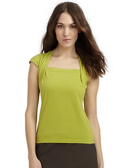 Lafayette 148 New York - Giada Cotton Cap Sleeve Top