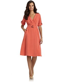Lafayette 148 New York - Millicent Silk Belted Wrap Dress