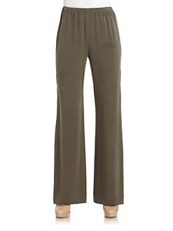 Lafayette 148 New York - Silk Wide Leg Jersey Trousers