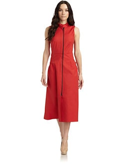 Lafayette 148 New York - Zip-Front Sleeveless Dress