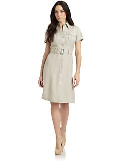 Lafayette 148 New York - Belted Shirt Dress