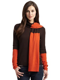 Cullen - Colorblock Cashmere Scarf Sweater